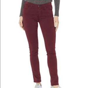 AG The Prima Cigarette Leg in Burgundy